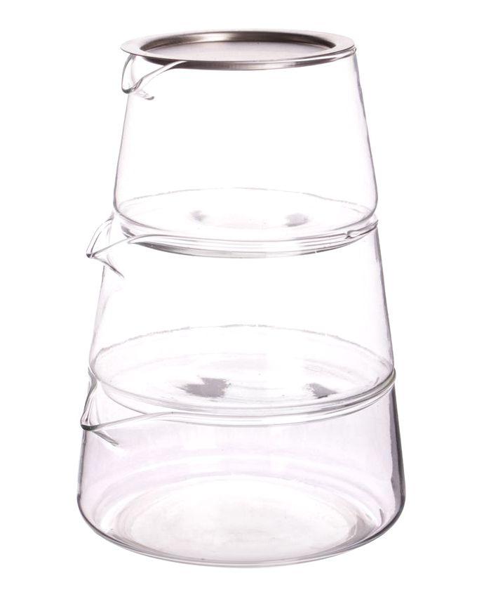 فروش مربا خوری 3 طبقه پیرکس - ظرف شیشه ای مربا